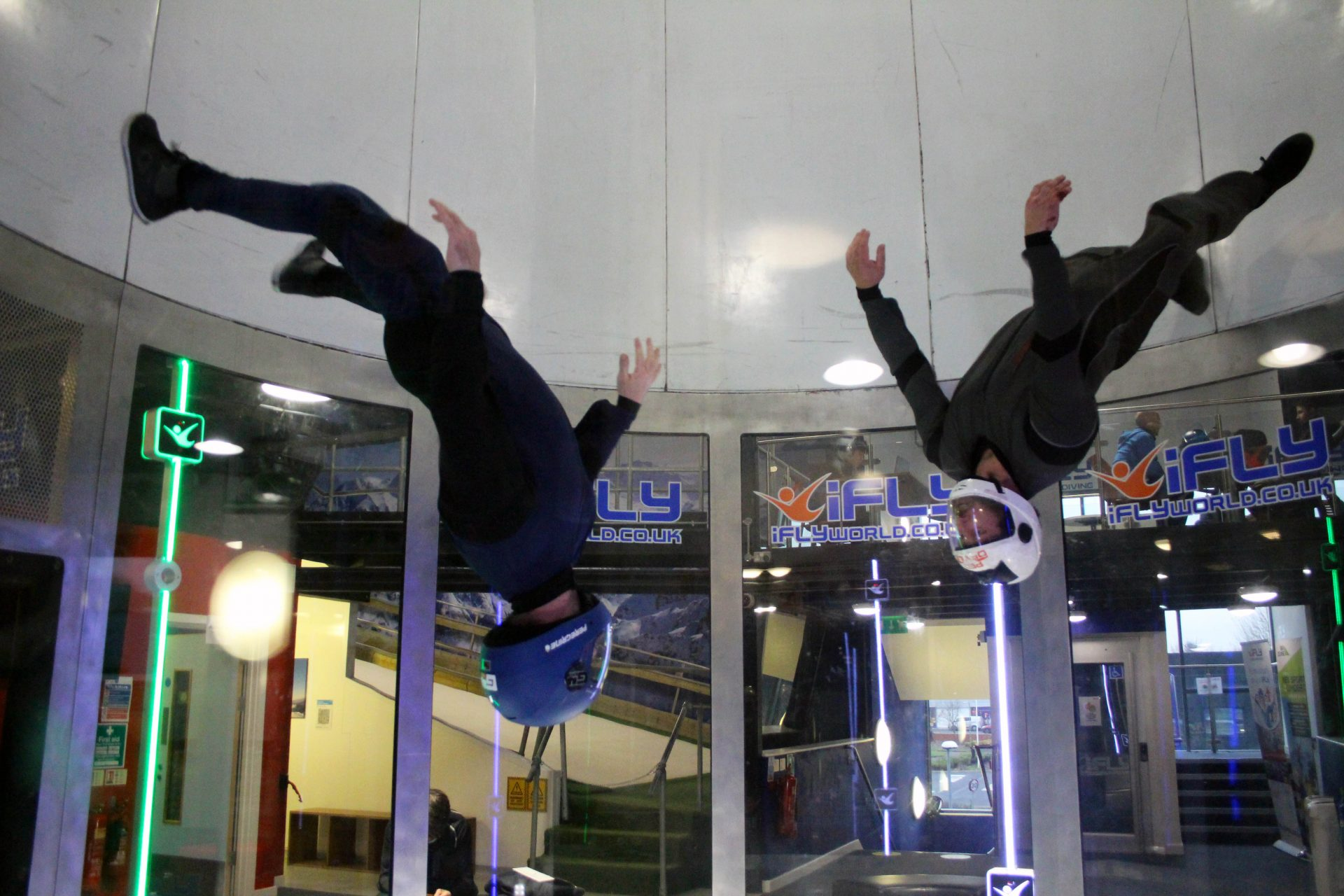 Wind tunnel flying