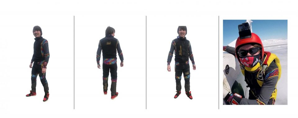2 piece skydiving suit