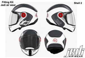 WHITE JEDI AIR WEAR TFX HELMET