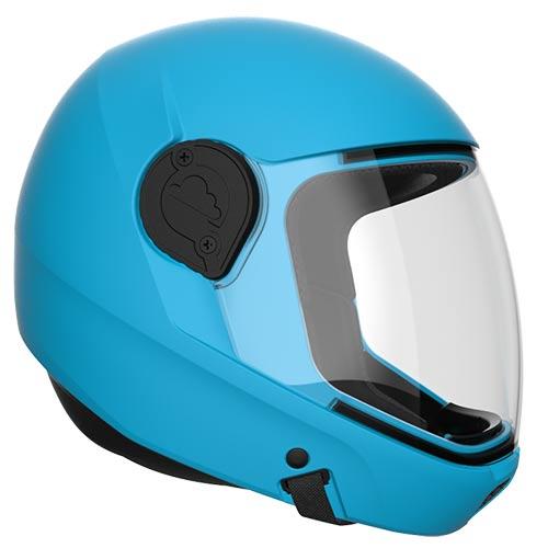 G4 electric blue skydiving helmet