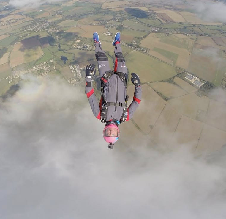 Freefly suit head down skydive